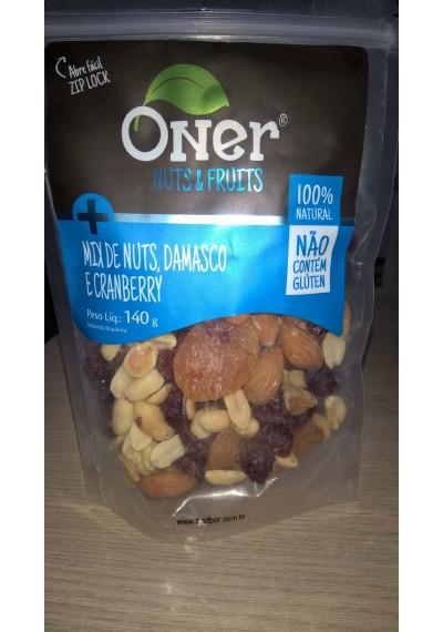 Mix Nuts,Damasco e Cranberry Oner 140G