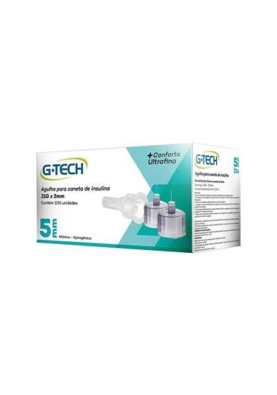 Agulha G-Tech Para Caneta de Insulina 31G x 5mm C/ 100