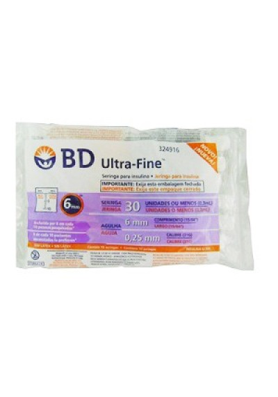 Seringas BD Ultra-Fine Insulina 30U