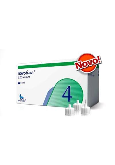 Agulha Novofine 4 mm c/ 100 unidades para Caneta
