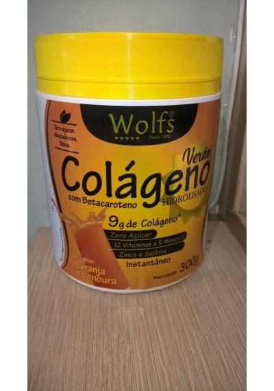 Colágeno Hidrolisado Verão com betacaroteno Wolfs 300g
