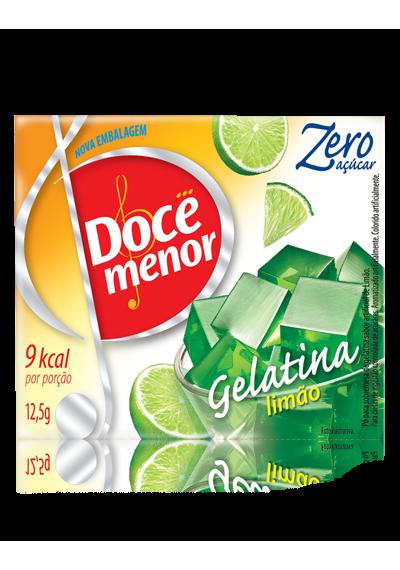 Gelatina Doce menor Limão Zero Açúcar 12,5g