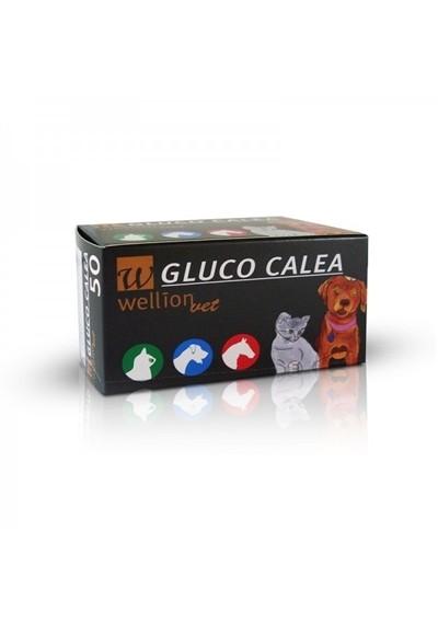 Tiras Reagentes para teste de Glicose em Animais c/ 50 Gluco Calea  Wellion ( PROMOÇÃO NA COMPRA DA FITA GANHE UM APARELHO.