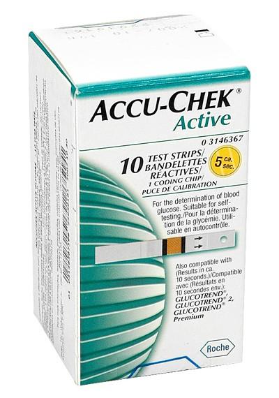 Tiras Accu-Check Active c/ 10