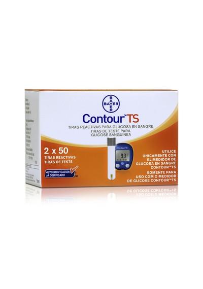 Tiras Contour TS c/ 100 Bayer