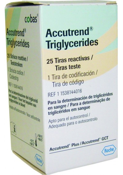 Accutrend Triglicérides c/ 25 Tiras Reagentes