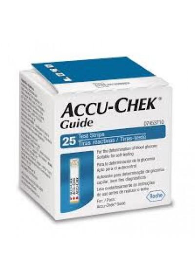 fita teste glicose Accu Chek Guide c/25