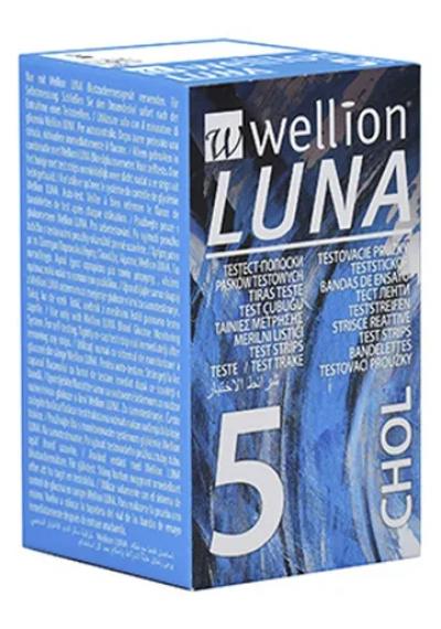 Fita para medir Colesterol Luna c/ 5