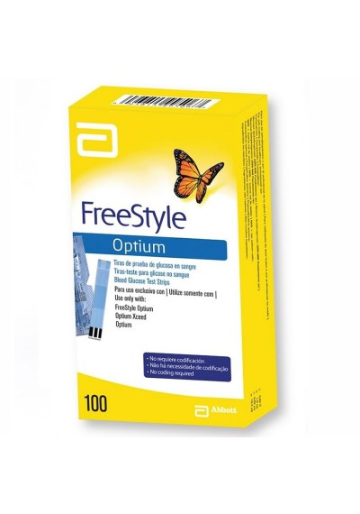 Freestyle Optium NEO Tiras c/ 100 para uso (optium xceed, libre,)