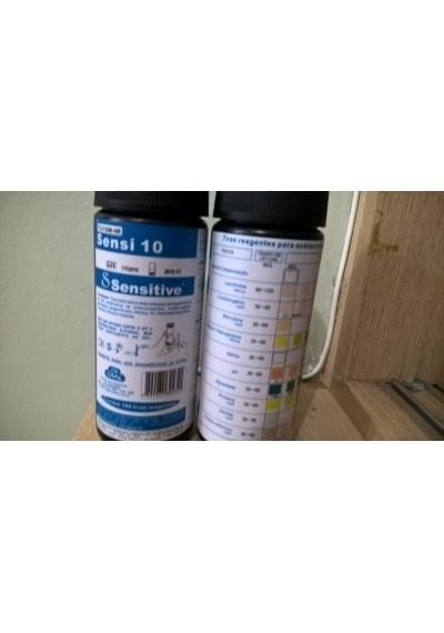 Fitas para medição glicose, cetona, leucocitos,Proteína na urina  c/ 100 fitas -Sensi 10