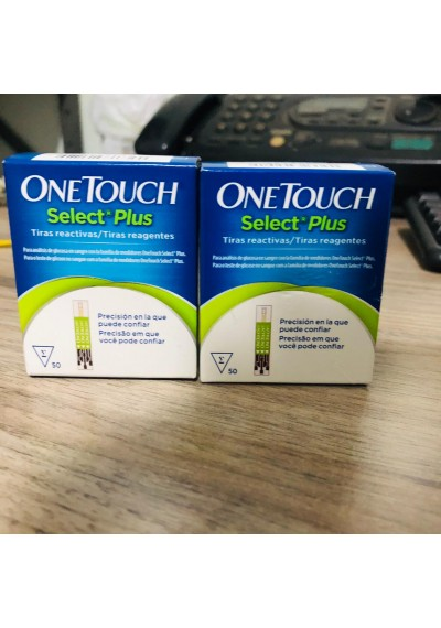 One Touch select plus 2 Caixas c/50 Tiras