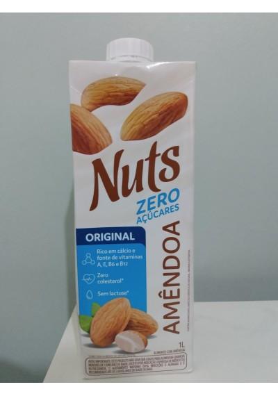Bebida de Amêndoa Nuts original  zero 1 litro