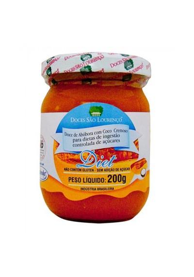 Doce de Abóbora com coco Diet São Lourenço 200g