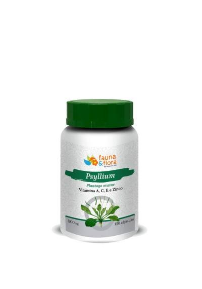Psyllium Fauna e Flora 120 Cápsulas de 500mg
