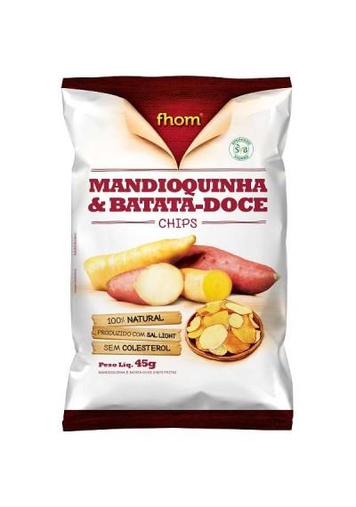 Mandioquinha e Batata -Doce Fhom chips 45 grs