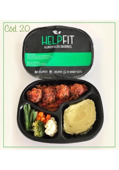 Prato congelado saudável  Help fit Carne