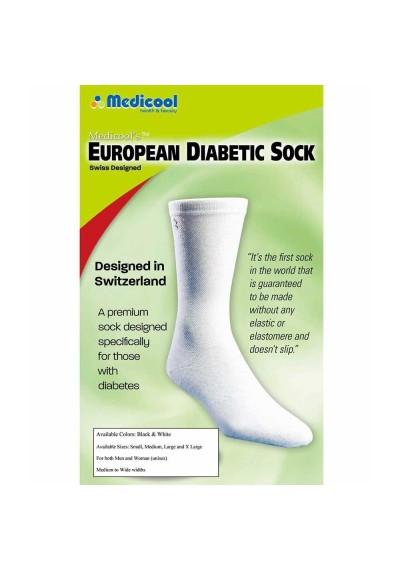 Meia Para Diabéticos Medicool European Diabetic Sock