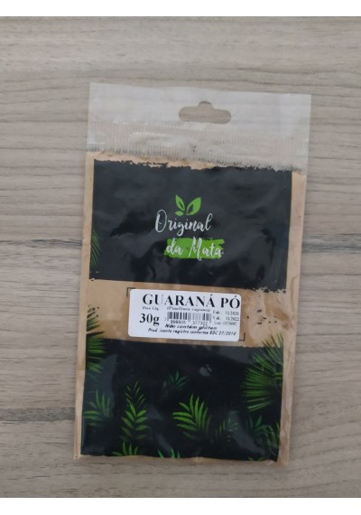 Guaraná em Pó Original da Mata 30g